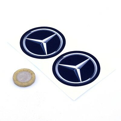 Mercedes Benz Badge Sticker Decal Car Vinyl 50mm x2 Modern Mercedes Badge