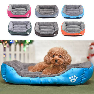 Large Pet Dog Cat Bed Puppy Cushion House Soft Warm Kennel Mat Blanket 6 Sizes