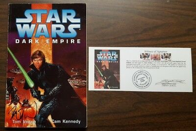 Star Wars Dark Empire TPB 2nd Edition signed by Dave Dorman with Notarized WOS