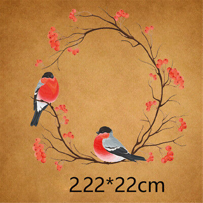 bird iron on transfer embroidery patch flower heat transfers for clothes LJ