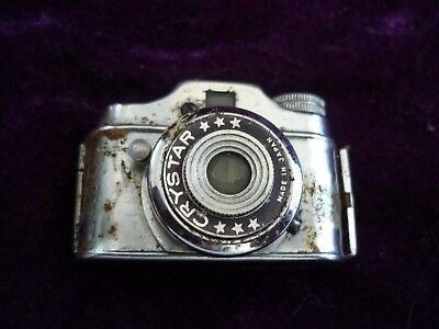 Crystar vintage miniature collectable camera, restoration project, sold as is.