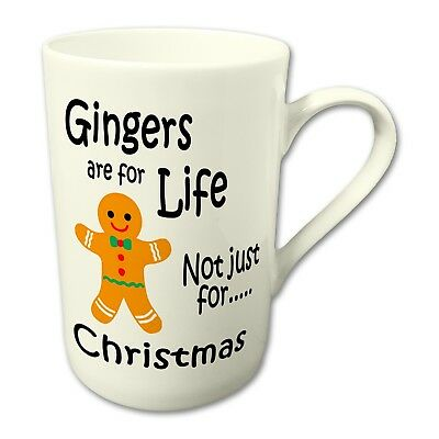 Gingers Are For Life Not Just For Christmas Novelty Gift Fine Bone China Mug