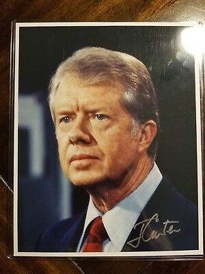 President Jimmy Carter Signed Autographed 8X10 Photo Authentic Coa