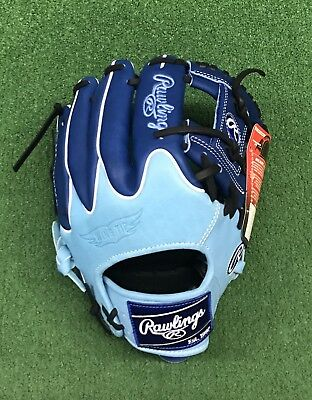 """Rawlings Heart of the Hide 11.5"""" Limited Edition Blue Infield Baseball Glove"""