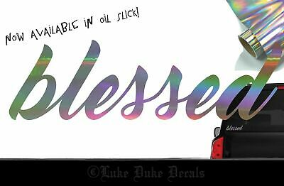 Blessed DECAL /_ OIL SLICK ect blacklisted lowered stance jdm styleVinyl Sticker