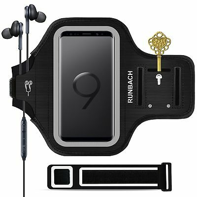Galaxy S9 ArmbandRUNBACH Sweatproof Running Exercise Gym Cellphone Sportband