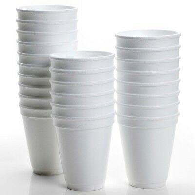 200 X Disposable Foam Cups Polystyrene Coffee Tea Cups for Hot Drinks 7 / 10 OZ