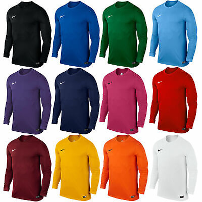 Nike Boys T-Shirt Long Sleeve Park Football Jersey Training Top Size S M L XL