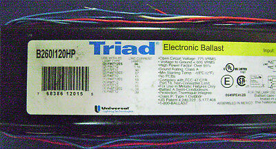 Universal B260I120HP Triad Electronic Ballast for 1 or 2 8' T12 F96T12 120V