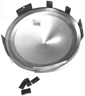 """hub cap front universal pointed cone stainless for aluminum wheels 1"""" lip each"""