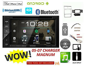05-07 DODGE MAGNUM CHARGER BLUETOOTH TOUCHSCREEN KENWOOD Stereo, SILVER