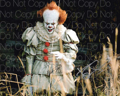 It Bill Skarsgård Steven King signed 2 8x10 photo picture poster autograph RP