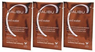 Malibu C Hard Water Demineralizer Treatments 3ct.