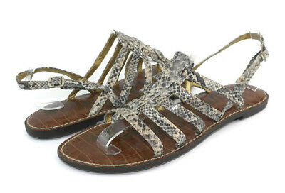 73909d33c5a9 SAM EDELMAN TYRA Women s Sandals Graphite Jeweled Detailing Leather ...