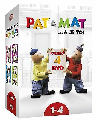 DVD Collection Pat a Mat 1 - 4 Czech TV Pupped Animated series (wordless) Comedy