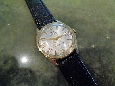Vintage Waltham 17 Jewel AS ST 1803 Caliber Swiss Made Watch Ornate Unique Dial