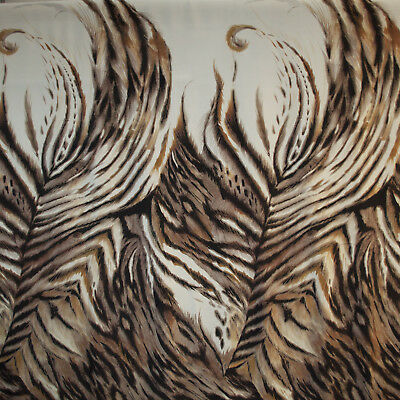 Roberto Cavalli authentic tiger print pure crepe silk fabric 140 x 136cm DEFECT!