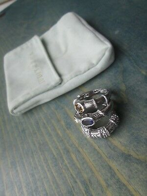 Lot of 3 JUDITH RIPKA 925 Sterling Silver Stackable Rings Size 9 & 6.25 THAILAND