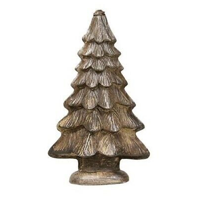 Primitive Antique Vintage Tin Style Christmas Tree Silver Resin Chocolate Mold