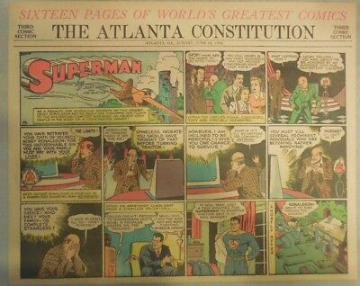 Superman Sunday Page #33 by Siegel & Shuster from 6/16/1940 Half Page: Year #1!