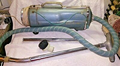 Vintage Electrolux Model E Metal Canister Vacuum Cleaner W/accessories.tested