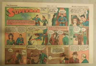 Superman Sunday Page #83 by Siegel & Shuster from 6/1/1941 Half Page:Year #2!