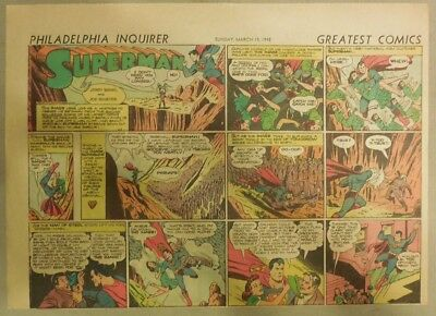 Superman Sunday Page #124 by Siegel & Shuster from 3/15/1942 Half Page:Year #3!