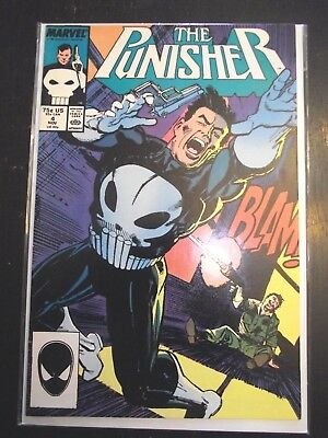 The Punisher #4 (first appearance of Microchip) Netflix series 1987 FN