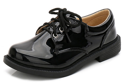 Childrens Back To School Shoes Boy Leather Formal Smart Wedding Party Dress Shoe