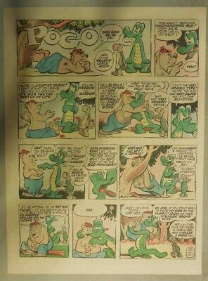 Pogo Sunday by Walt Kelly from 3/10/1957 Tabloid Size!