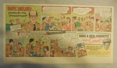 Camel Cigarette Ad: Sgt. Bilko Protects His Investment 1950's Third Size Page