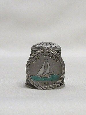 Bar Harbor ME Pewter Thimble