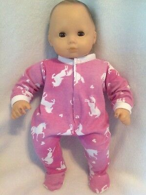 """15"""" Bitty Baby Pink Unicorn Heart sleeper pajamas twins girl Doll Clothes outfit"""