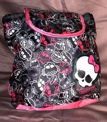 Monster High Girls Small Fashion Bag Backpack Purse Skull Black And Pink