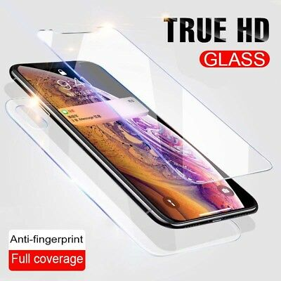 Full Body Front+Back Tempered Glass Screen Protector For Apple IPhone XR XS MAX