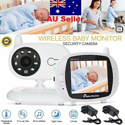 "3.5""LCD Baby Monitor Wireless Digital 2-Way Audio Video Camera Security AU Stock"