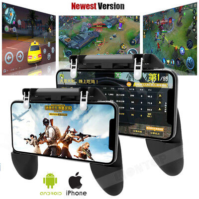 W10 Mobile Phone Game Controller Gamepad Joystick Fire Trigger For PUBG