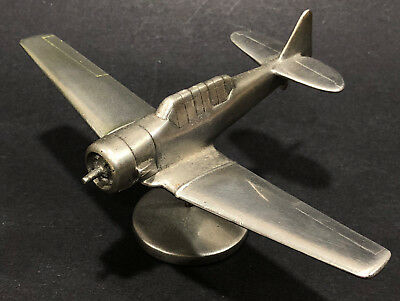 WWII Douglas Duantless TBD Airplane Model Trench Art Metal Antique DP Carter