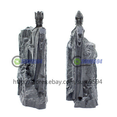 2PCS The Lord of Rings Figure The Gate of Gondor Bookends Die-cast statue Gift