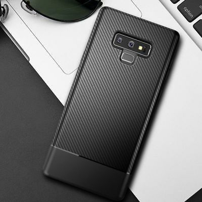 For Samsung Galaxy Note 9 S8 S9 Plus Shockproof Carbon Fiber Soft TPU Case Cover