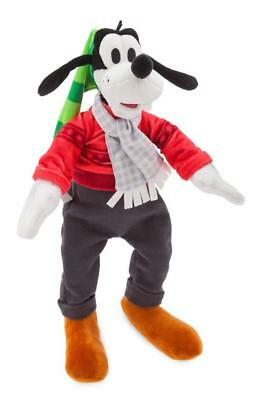 "BRAND NEW 2018 Disney Parks Christmas Goofy with Hat and Scarf 11"" Plush"