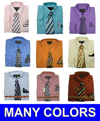 Boys Dress Shirt with Matching Tie and Hanky New Colors 2 Vangogh Sizes 2T to 20