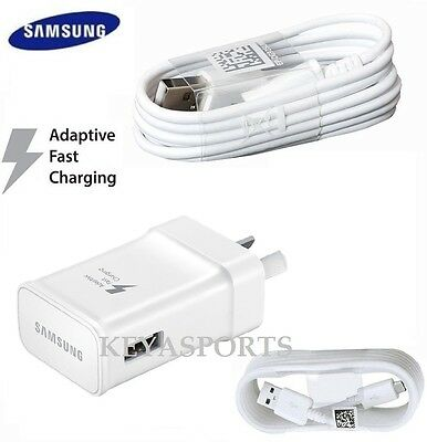NEW GENUINE SAMSUNG 2AMP 9V ADAPTIVE FAST AC Wall Charger S7 S6 Edge + Note 5 4
