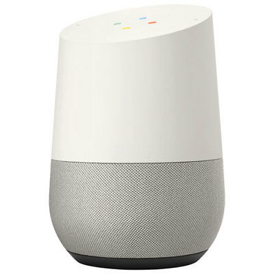 Google Home Voice Activated Smart Speaker - White Slate NEW