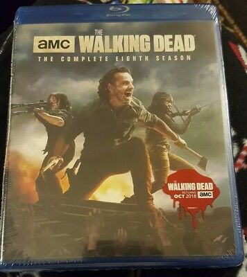 The Walking Dead: The Complete Eighth 8th Season FREE SHIP (Blu-ray Disc, 2018)
