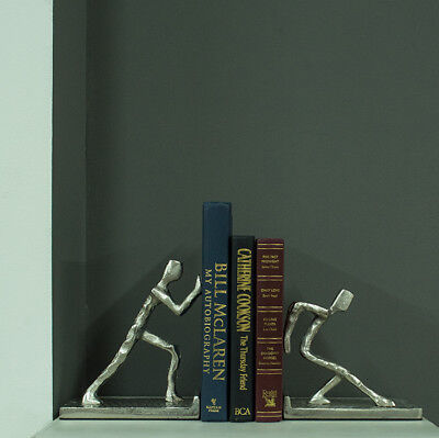 Pastel Country Book Ends Aluminium Human Bookends (Book Fair Sale)