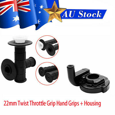 22mm Twist Throttle Housing Hand Grip & Tube Fit 50 110 125cc Dirt Pit Bike Quad