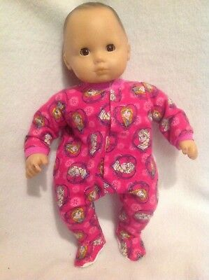 """15"""" Bitty Baby Disney Frozen Elsa sleeper pajamas twins girl Doll Clothes outfit"""