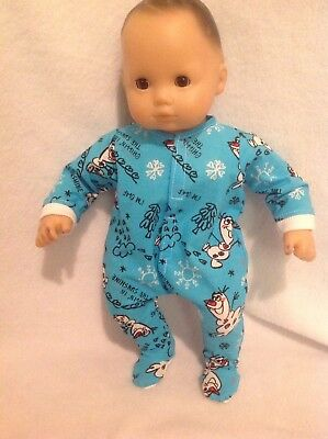 """15"""" Bitty Baby Disney Frozen Olaf sleeper pajamas twins boy Doll Clothes outfit"""