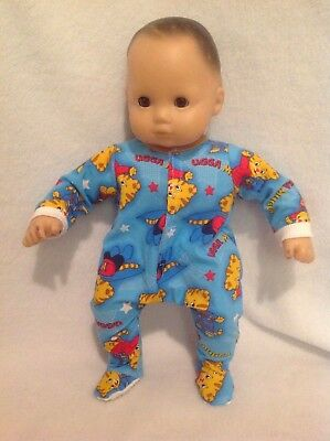 """15"""" Bitty Baby Daniel Tiger sleeper pajamas twins boy Doll Clothes outfit"""
